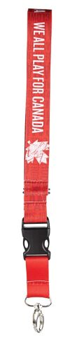 """Canadian Olympic Team Lanyard - """"We All Play/ Nous jouons tout pour le Canada"""" Product image"""
