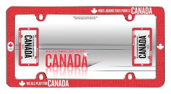 Canadian Olympic Team License Plate Frame, Red Product image