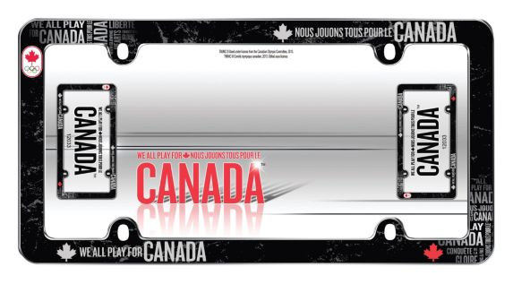 Canadian Olympic Team License Plate Frame, Black Product image
