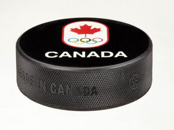 Canadian Olympic Team Hockey Puck Product image