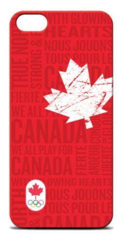 Étui iPhone 5 Équipe olympique canadienne, rouge Image de l'article