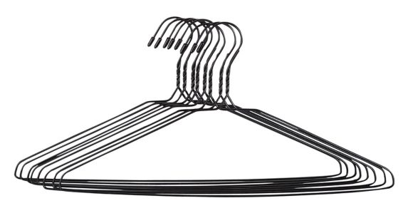 Home Collection Wire Hanger, Black, 8-pk Product image