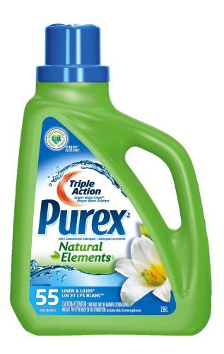 Détergent à lessive Purex Natural Elements, lin et lis blanc, 55 brassées Image de l'article