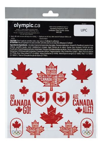 Canadian Olympic Temporary Tattoos Product image