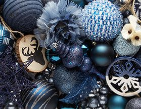 Christmas Ornaments Blue