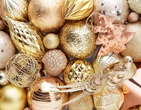 Christmas Ornaments Gold