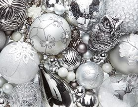 Christmas Ornaments Silver