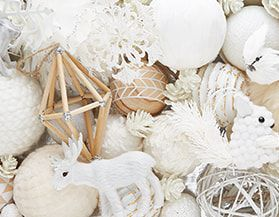Christmas Ornaments White
