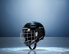 Casques de hockey, jeunes