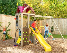 Shop playsets, swings and slides