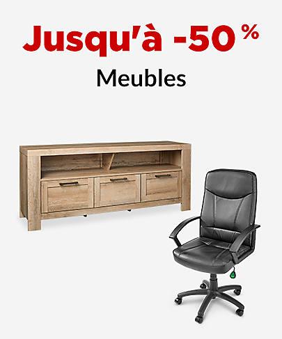 Jusqu'à -50 % Meubles