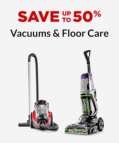 Save up to 50% Vacuums & Floor Care