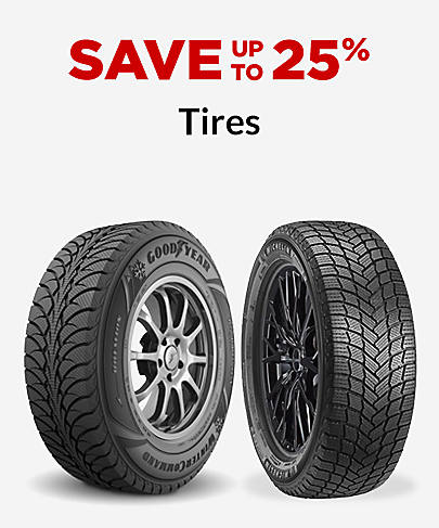 Save up to 25% Tires