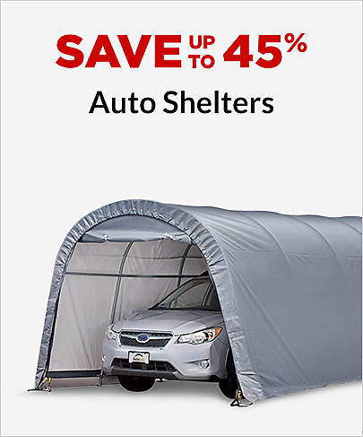 Save up to 45%  Auto Shelters