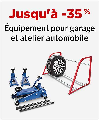 Jusqu'à -35 % Équipement d'atelier et garage