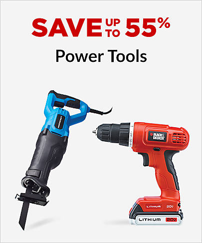 Save up to 55% Power Tools