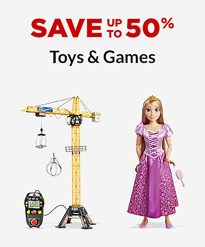 Save up to 50% Toys & Games