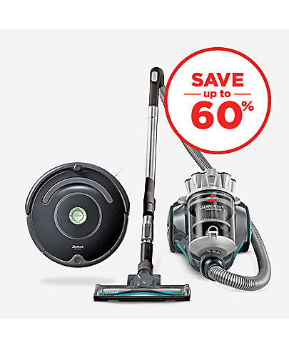 Save up to 60% Vacuums & Floor Care