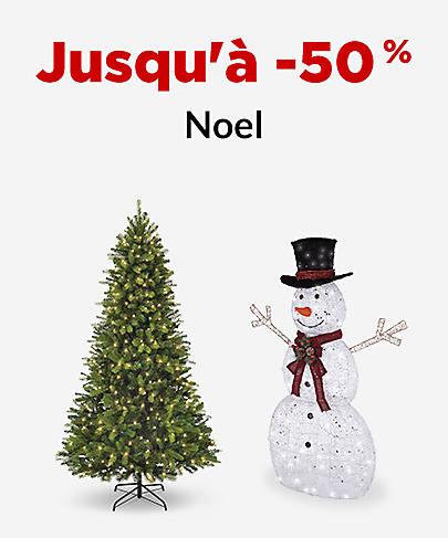 Jusqu'à -50 % Noël