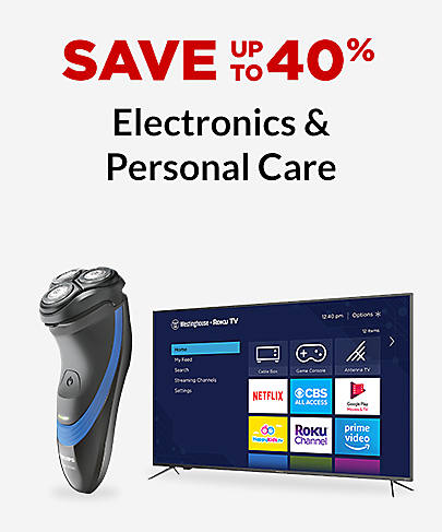 Save up to 40% Electronics & Personal Care