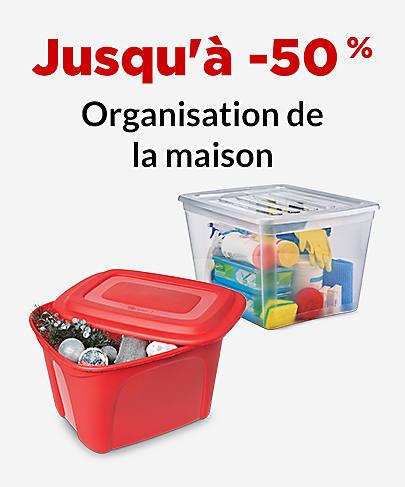 Jusqu'à -50 % Organisation de la maison