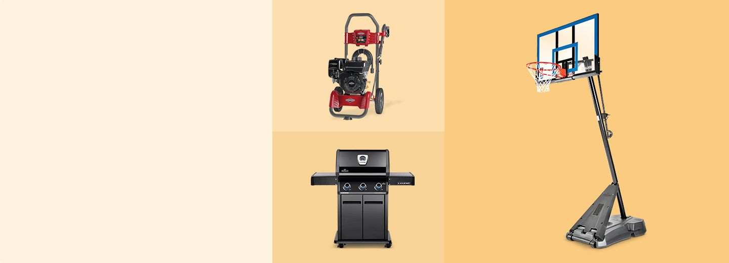 GET SET FOR THE SEASON  & SAVE UP TO 40%   Make the most of warmer days with deals on outdoor cooking, sports fun and more.