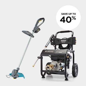 SAVE UP TO 40% Shop Outdoor Tools