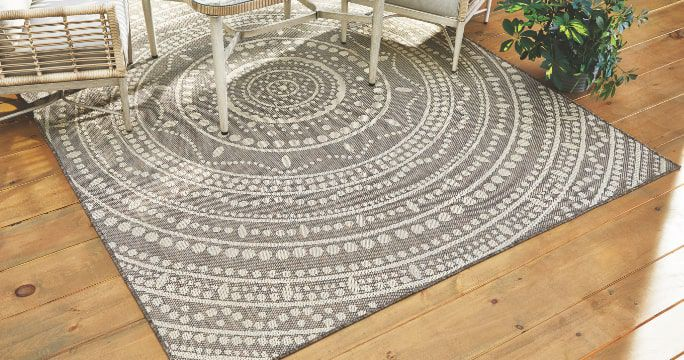 Patio Rugs  Tie your patio furniture together with outdoor rugs and mats that add style to your area.  SHOP NOW