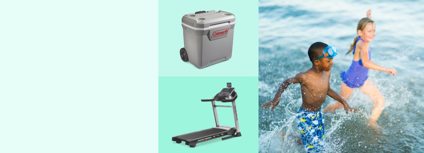 GEAR UP & SAVE UP TO 50%  Enjoy the long weekend with summer deals on outdoor fun, exercise and more.