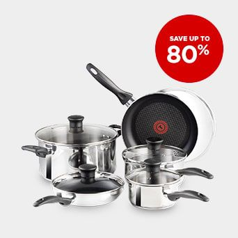 SAVE UP TO 80% Shop Cookware