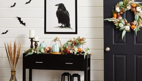 INDOOR HALLOWEEN DECOR Celebrate the spirit of Halloween indoors with creepy cob webs, hanging ghosts, pumpkins and fall harvest decor. SHOP NOW