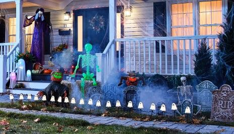 OUTDOOR HALLOWEEN DECOR Turn your home into a spooky scene kids and neighbours will love with animated characters, hanging skeletons and more decor.  SHOP NOW