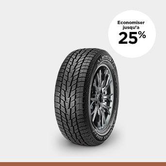 JUSQU'À 25 % DE RABAIS Plus grand solde de pneus