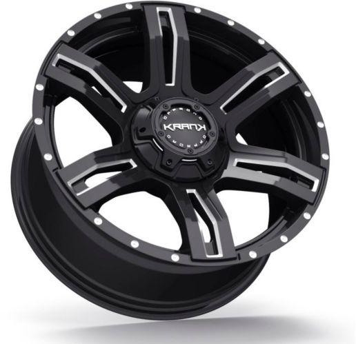 Krank Caliper Wheel, Gloss Black Machined Product image
