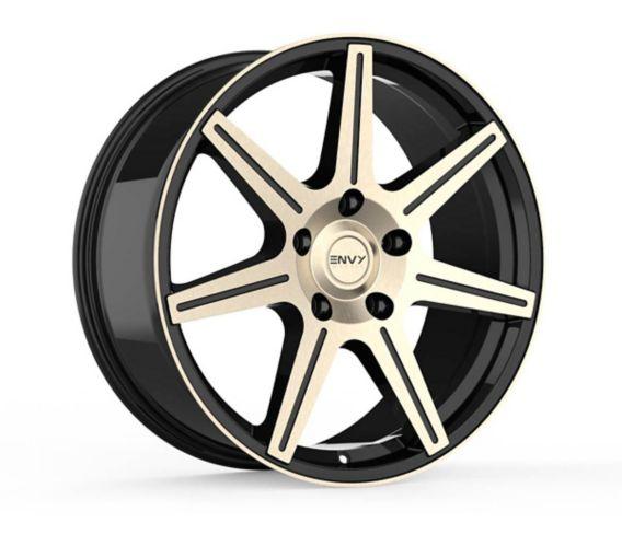 Envy Elite Alloy Wheel, Black with Brushed Titanium Grey Face Product image