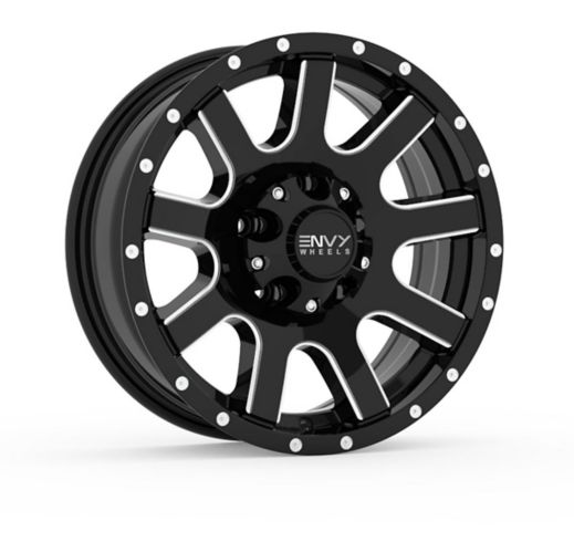 Envy Craze ET-3 Alloy Wheel, Gloss Black with Side Mill Product image