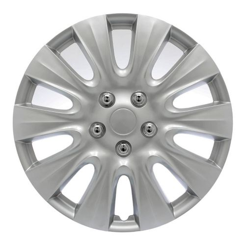AutoTrends Wheel Cover, 1044, Silver/Lacquer, 17-in, 4-pk Product image