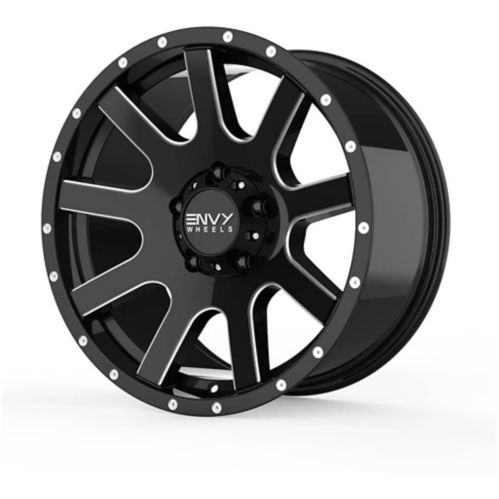 Envy Craze ET-3 Alloy Wheel, Black/Milled Product image