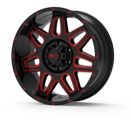 Envy ET-2 Alloy Wheel, Black/Red Milled Product image