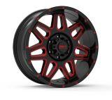 Envy ET-2 Alloy Wheel, Black/Red Milled   Envynull