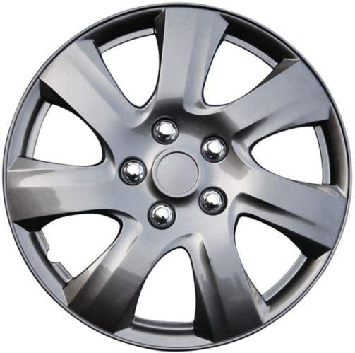 Enjoliveur de roue AutoTrends, 1021, gris métallisé, 15 po, paq. 4 Image de l'article