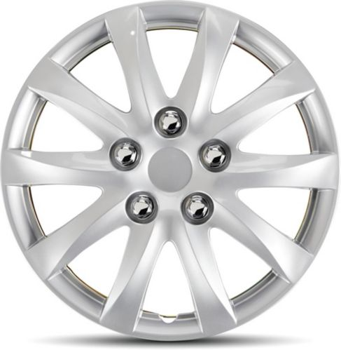 AutoTrends Wheel Cover, 1039, Silver/Lacquer, 14-in, 4-pk Product image