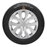 AutoTrends Shaft Wheel Cover, Silver, 17-in, 4-pk | AutoTrendsnull