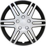 Enjoliveur de roue AutoTrends, argent/noir, 17 po, paq. 4   AutoTrendsnull