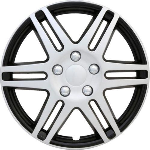Enjoliveur de roue AutoTrends, argent/noir, 17 po, paq. 4 Image de l'article