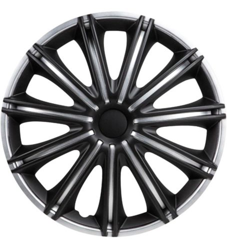 Enjoliveur de roue DriveStyle Nero, argent/noir, 17 po, paq. 4 Image de l'article