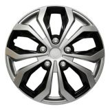 AutoTrends Shaft Wheel Cover, Silver/Black, 18-in, 4-pk   AutoTrendsnull