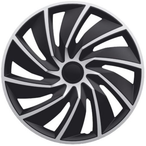 DriveStyle Turbo Wheel Cover, Silver/Black, 18-in, 4-pk Product image