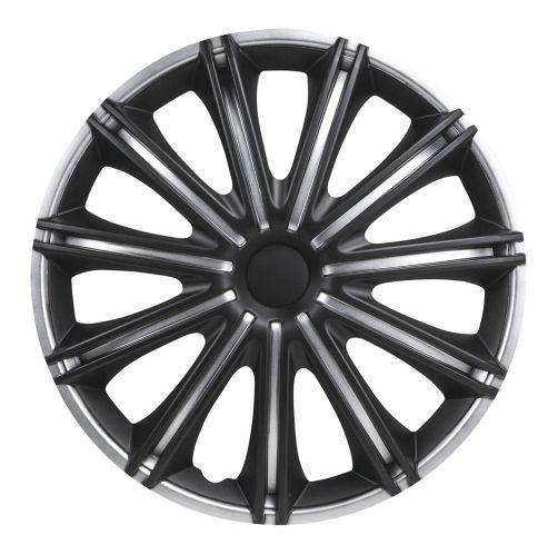 DriveStyle Nero Wheel Cover, Silver/Black, 16-in, 4-pk Product image