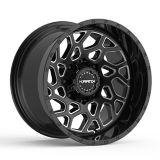 Krank Ambush Wheel, Gloss Black Milled   Kranknull